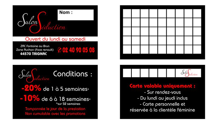Carte De Visite Impression Quadrichromie Recto 54x85mm Fidlit 2 Volets Verso